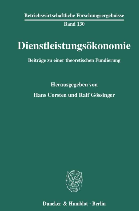 Cover Dienstleistungsökonomie