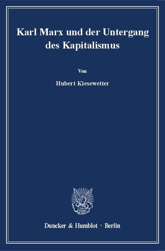 Cover Karl Marx und der Untergang des Kapitalismus