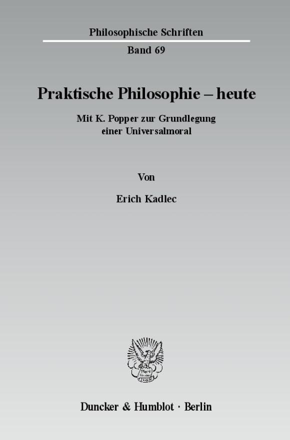 Cover Praktische Philosophie - heute