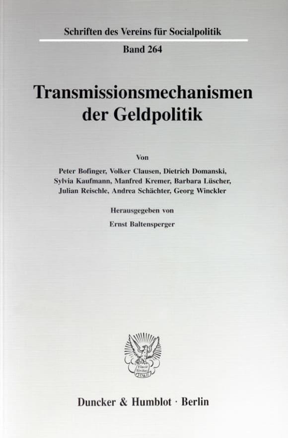 Cover Transmissionsmechanismen der Geldpolitik