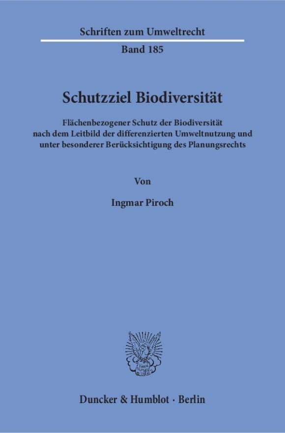 Cover Schutzziel Biodiversität