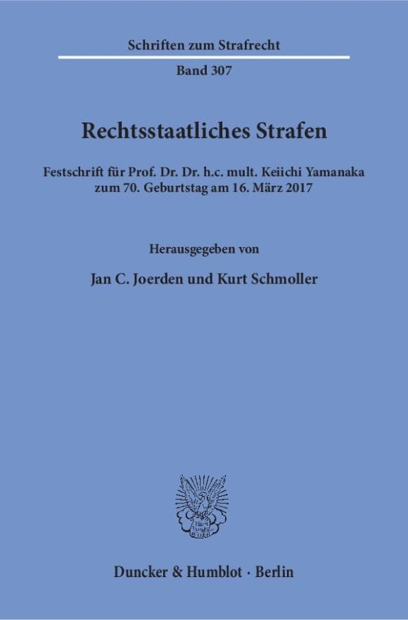 Cover Rechtsstaatliches Strafen