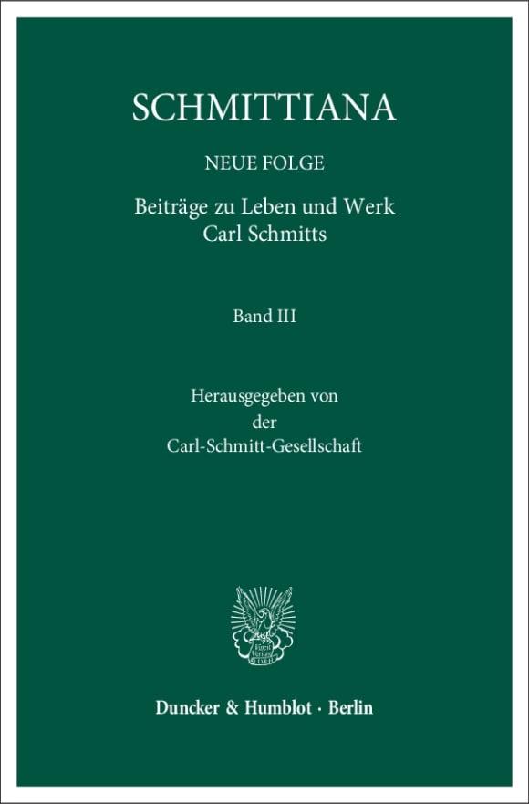 Cover SCHMITTIANA. NEUE FOLGE (SCHMITTNF)