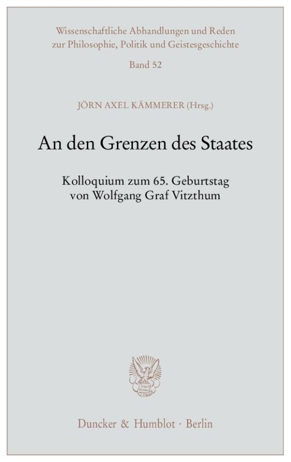 Cover An den Grenzen des Staates