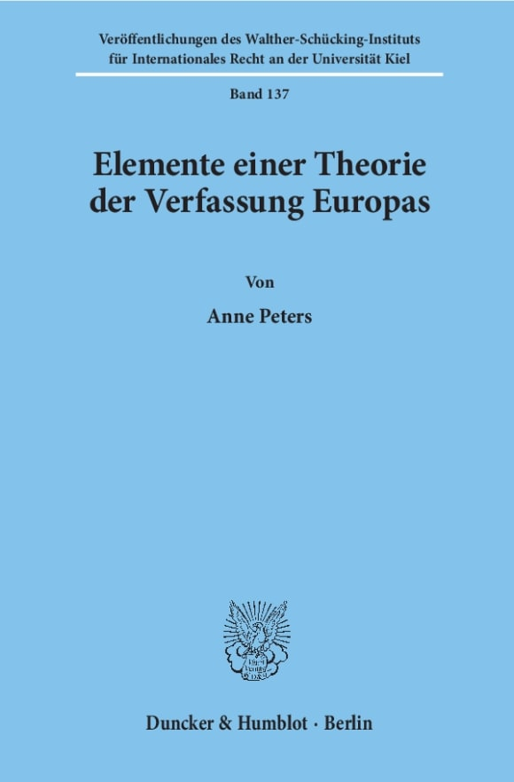 Cover Elemente einer Theorie der Verfassung Europas