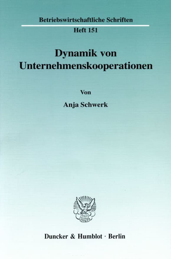 Cover Dynamik von Unternehmenskooperationen