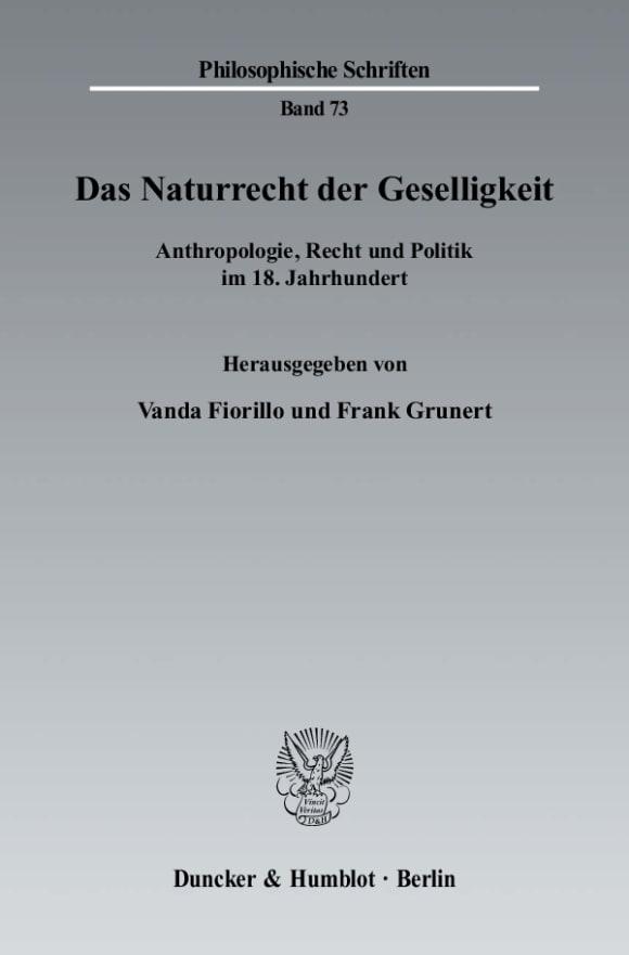 Cover Das Naturrecht der Geselligkeit