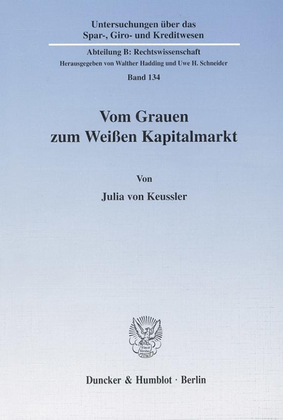 Cover Vom Grauen zum Weißen Kapitalmarkt