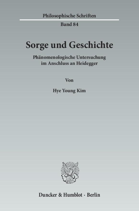 Cover Sorge und Geschichte