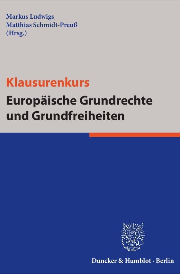 Cover Klausurenkurs Europäische Grundrechte und Grundfreiheiten