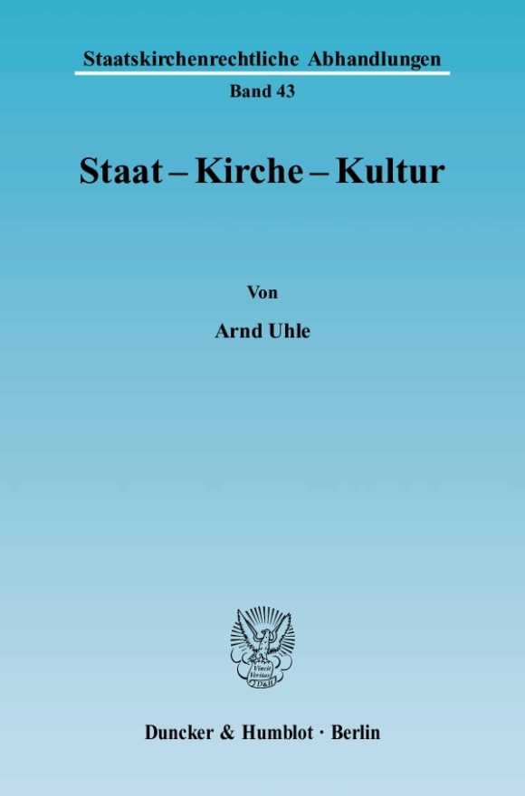 Cover Staat - Kirche - Kultur