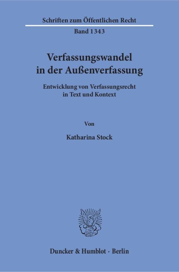 Cover Verfassungswandel in der Außenverfassung