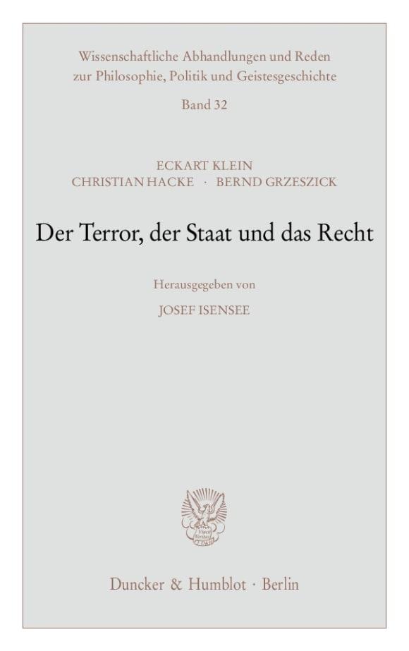 Cover Der Terror, der Staat und das Recht