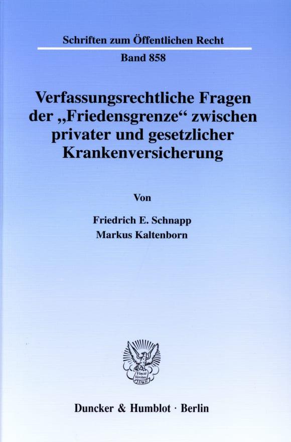 Cover Verfassungsrechtliche Fragen der