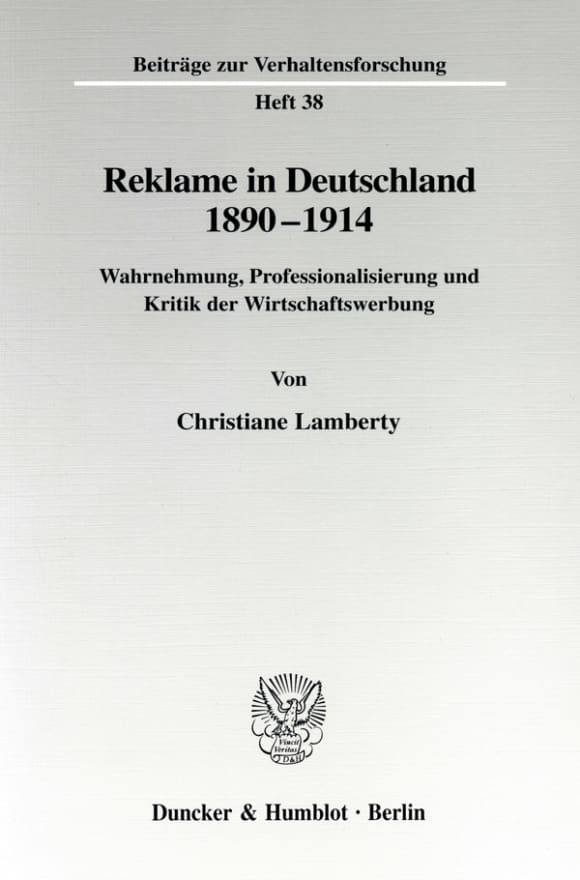 Cover Reklame in Deutschland 1890-1914