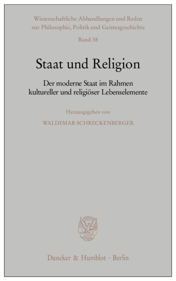 Cover Staat und Religion