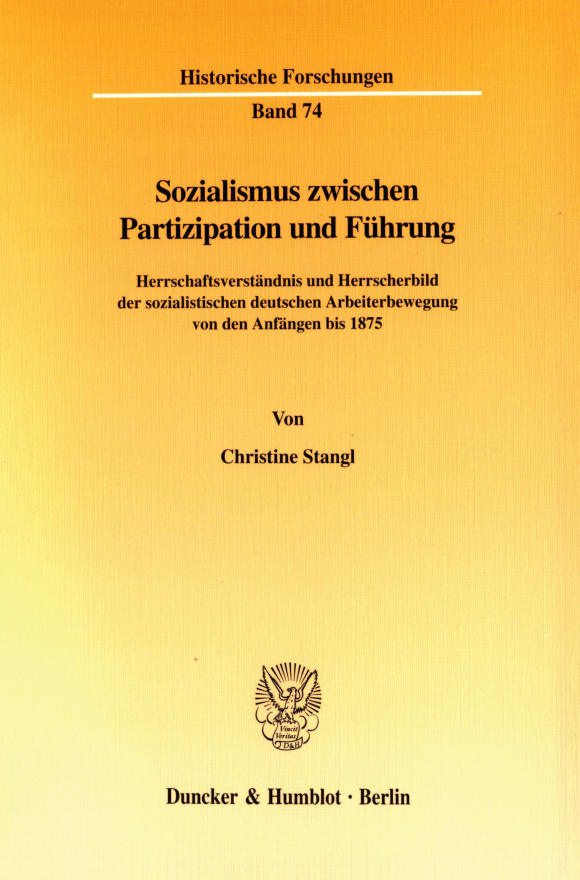 Cover Sozialismus zwischen Partizipation und Führung