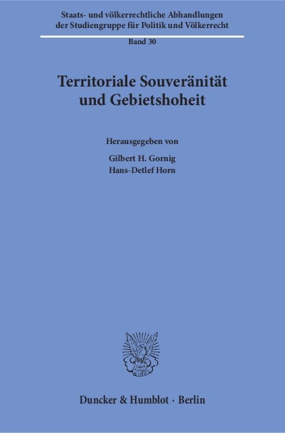 Cover Territoriale Souveränität und Gebietshoheit