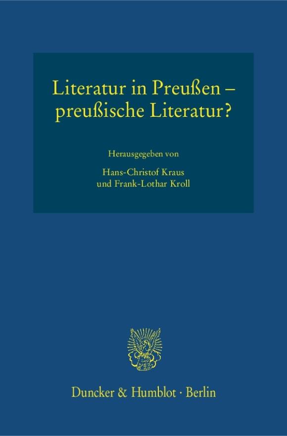 Cover Literatur in Preußen – preußische Literatur?