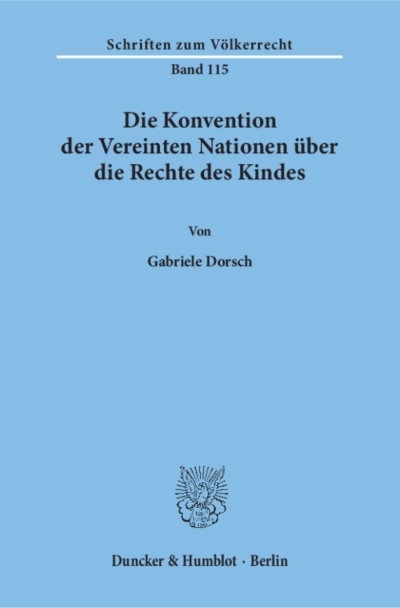 Cover Die Konvention der Vereinten Nationen über die Rechte des Kindes