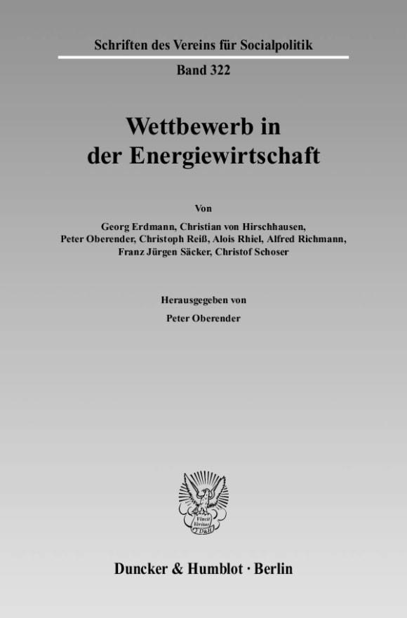 Cover Wettbewerb in der Energiewirtschaft