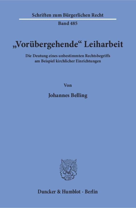 Cover »Vorübergehende« Leiharbeit