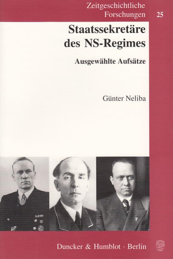 Cover Staatssekretäre des NS-Regimes