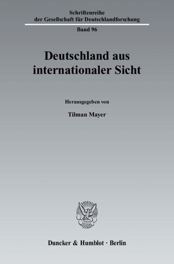 Cover Deutschland aus internationaler Sicht