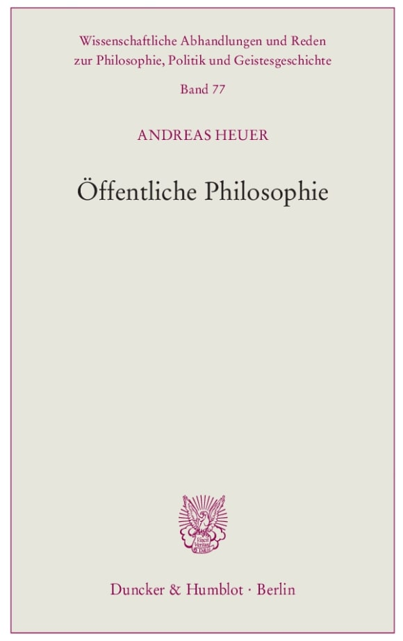 Cover Öffentliche Philosophie