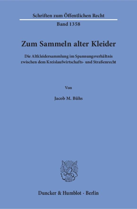 Cover Zum Sammeln alter Kleider
