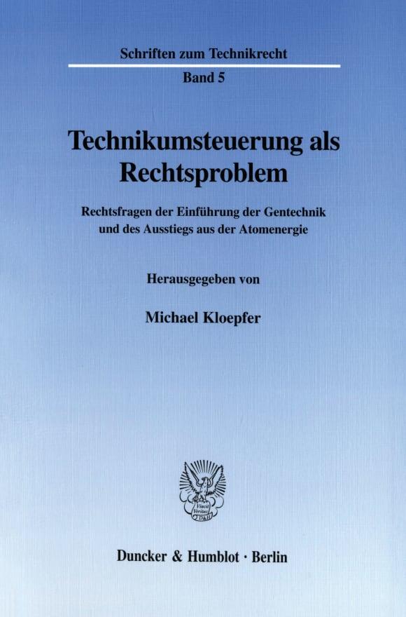 Cover Technikumsteuerung als Rechtsproblem