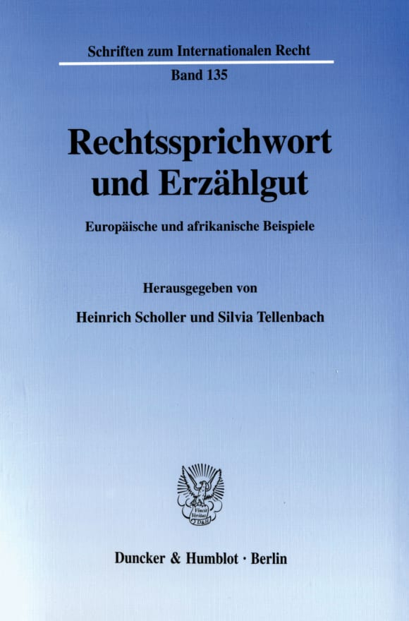Cover Rechtssprichwort und Erzählgut