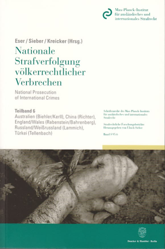 Cover Nationale Strafverfolgung völkerrechtlicher Verbrechen / National Prosecution of International Crimes