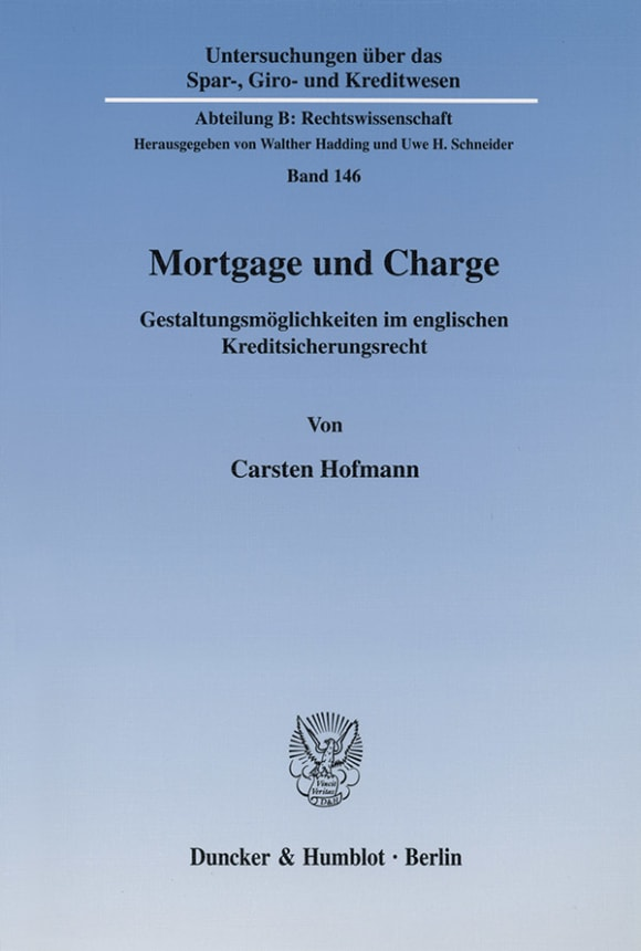 Cover Mortgage und Charge