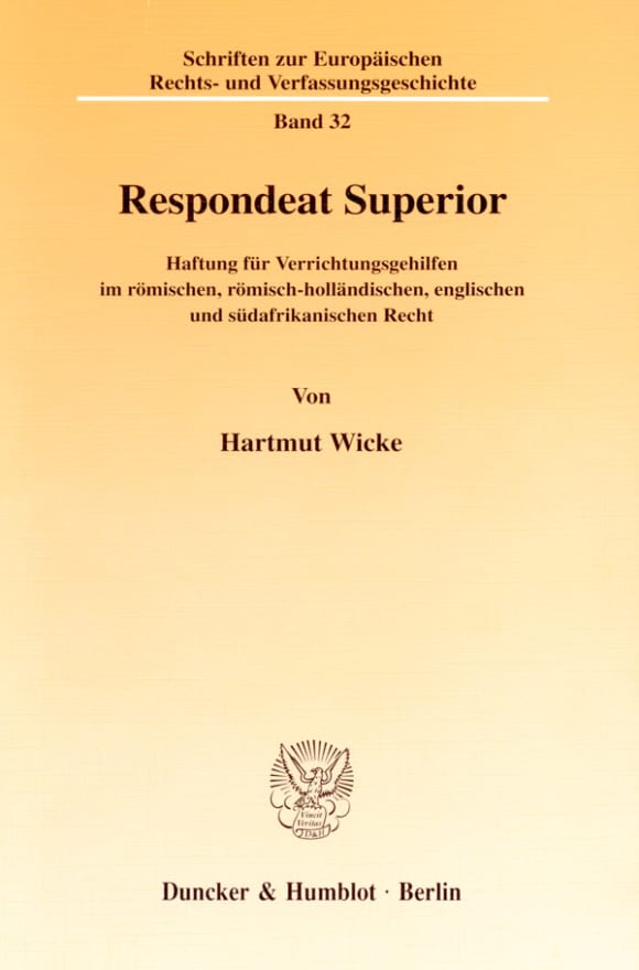 Cover Respondeat Superior