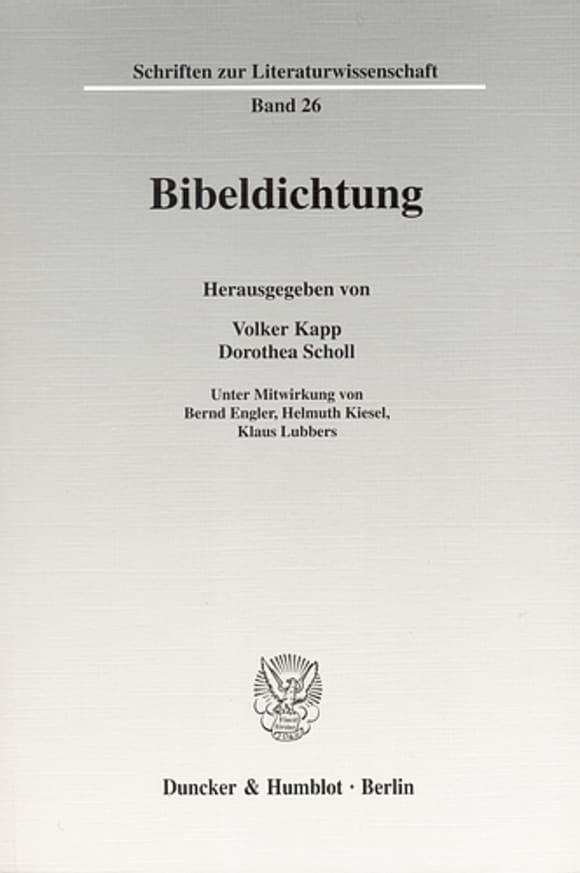 Cover Bibeldichtung