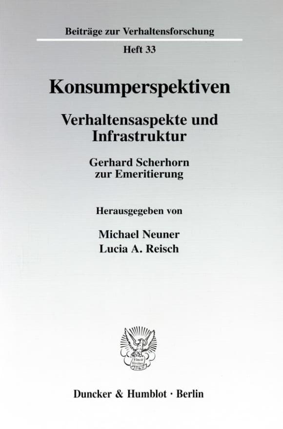 Cover Konsumperspektiven