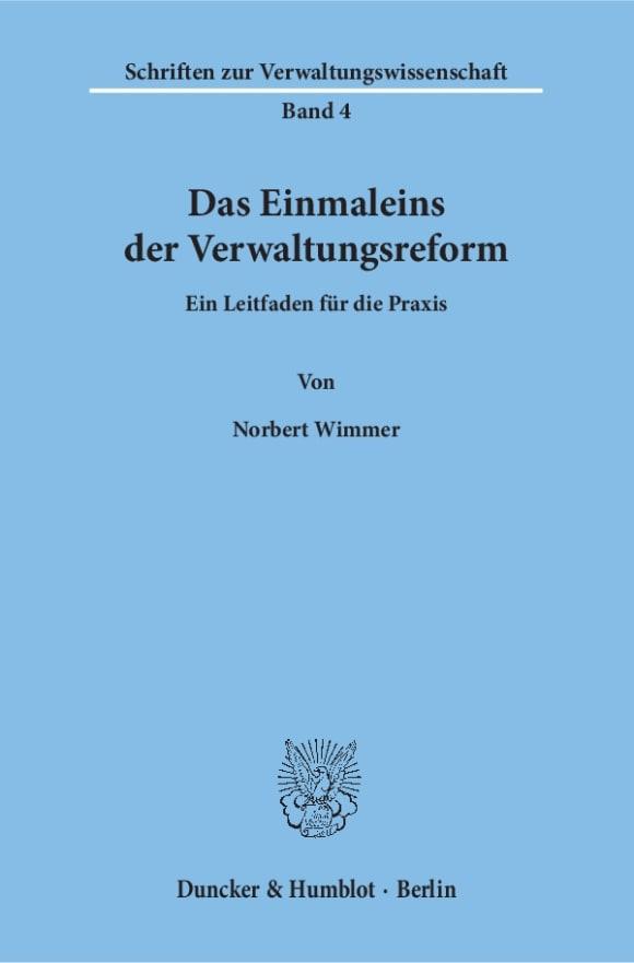 Cover Schriften zur Verwaltungswissenschaft (SVW)
