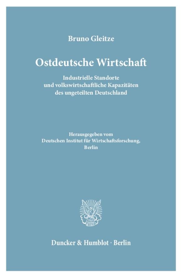Cover Ostdeutsche Wirtschaft