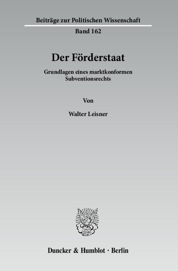 Cover Der Förderstaat