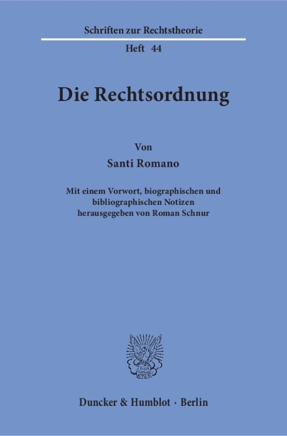 Cover Die Rechtsordnung
