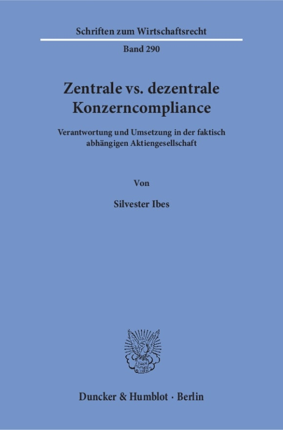 Cover Zentrale vs. dezentrale Konzerncompliance