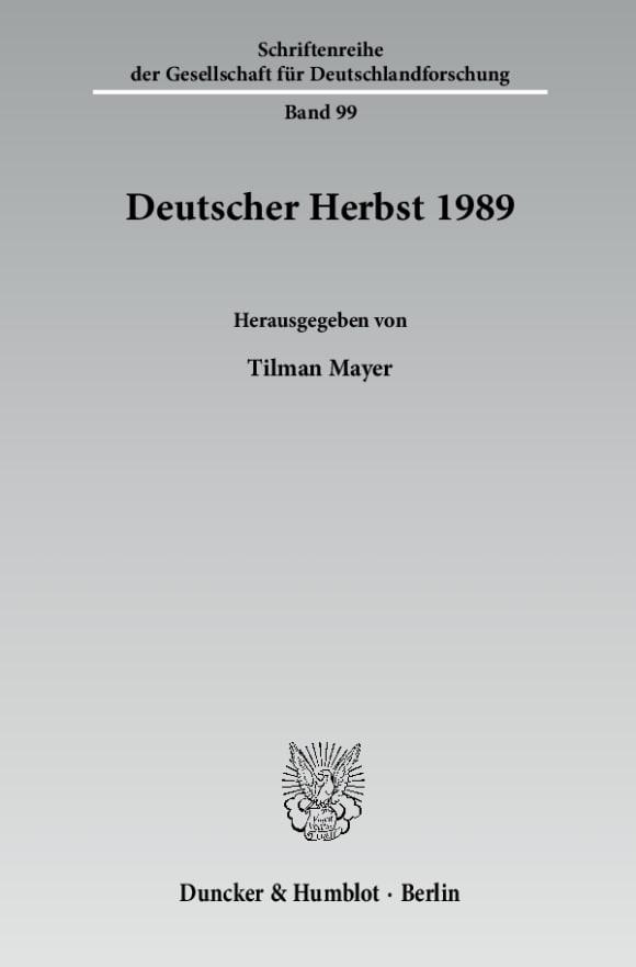 Cover Deutscher Herbst 1989
