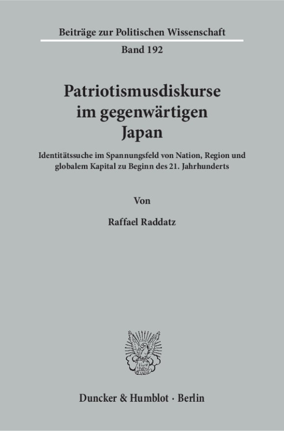 Cover Patriotismusdiskurse im gegenwärtigen Japan