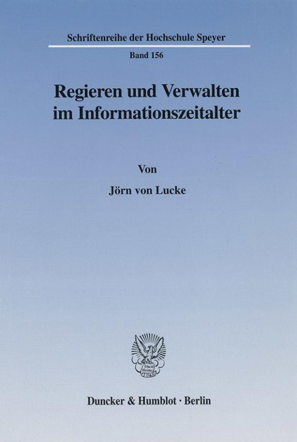 Cover Regieren und Verwalten im Informationszeitalter