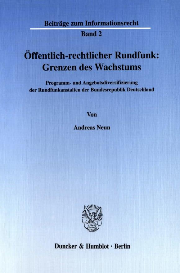 Cover Öffentlich-rechtlicher Rundfunk: Grenzen des Wachstums