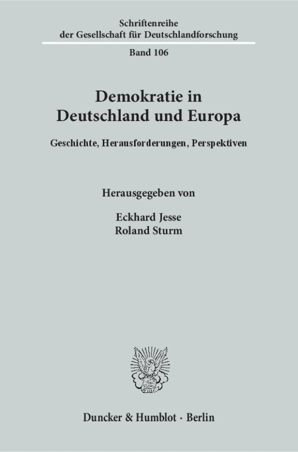 Cover Demokratie in Deutschland und Europa
