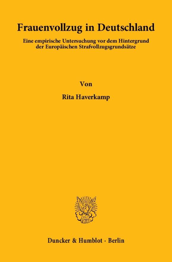 Cover Frauenvollzug in Deutschland