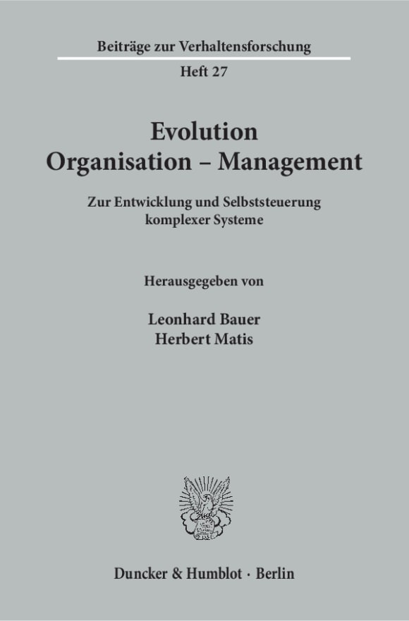 Cover Evolution - Organisation - Management
