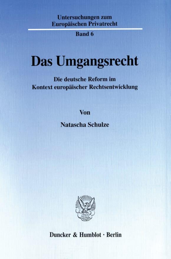 Cover Das Umgangsrecht